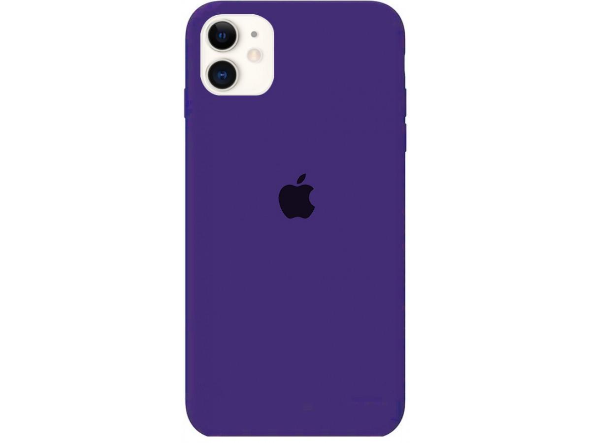 Чехол Silicone Case для iPhone 11 фиолетовый в Тюмени