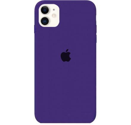 Чехол Silicone Case iPhone 11 фиолетовый (c)