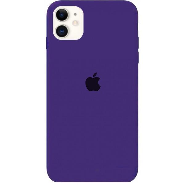 Чехол Silicone Case для iPhone 11 фиолетовый
