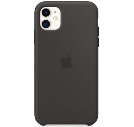 Чехол Silicone Case iPhone 11 черный (c)