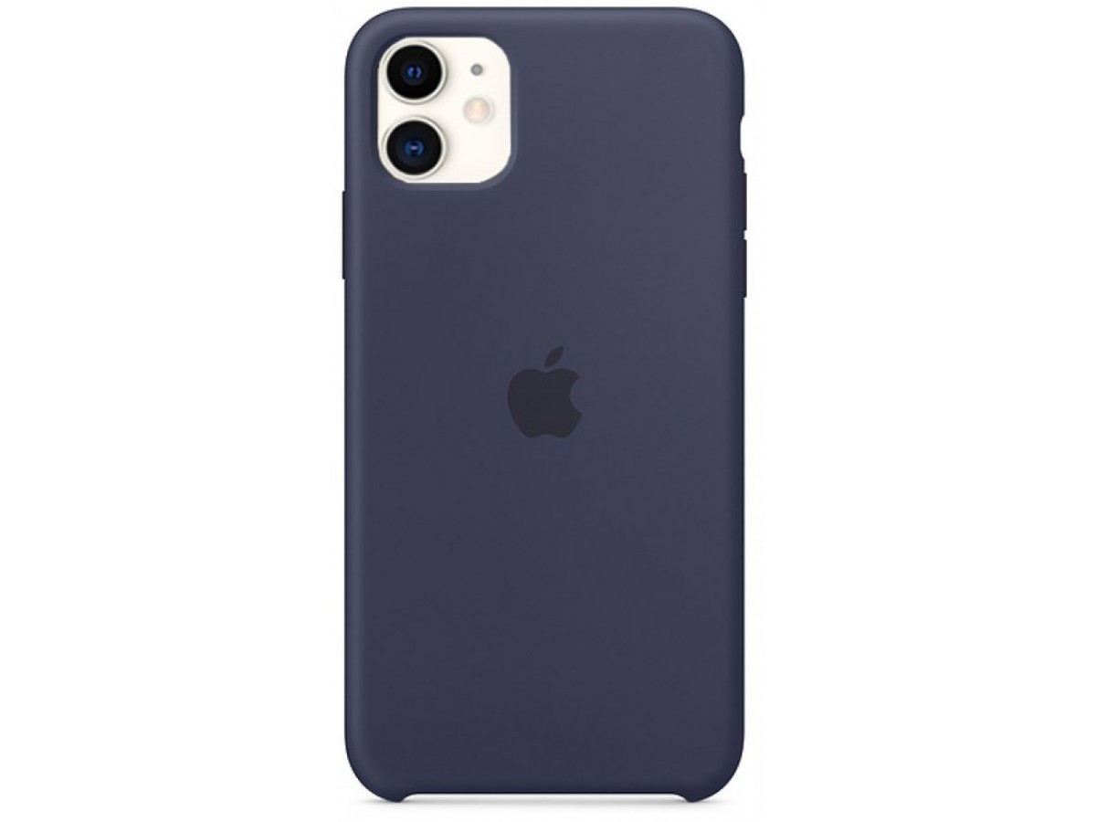 Чехол Silicone Case iPhone 11 темно-синий (c)  в Тюмени
