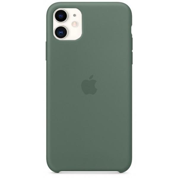 Чехол Silicone Case iPhone 11 темно-зеленый (c)