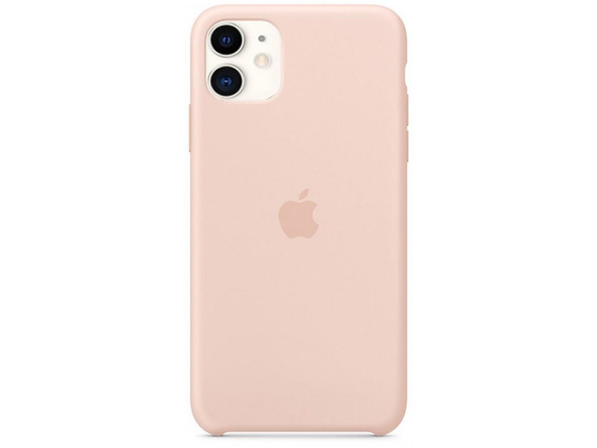 Чехол Silicone Case iPhone 11 светло-розовый (c)  в Тюмени