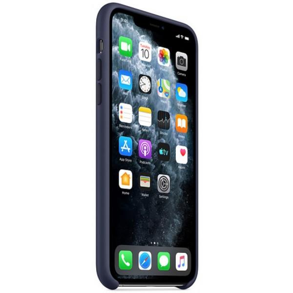 Чехол Silicone Case iPhone 11 темно-синий (c)