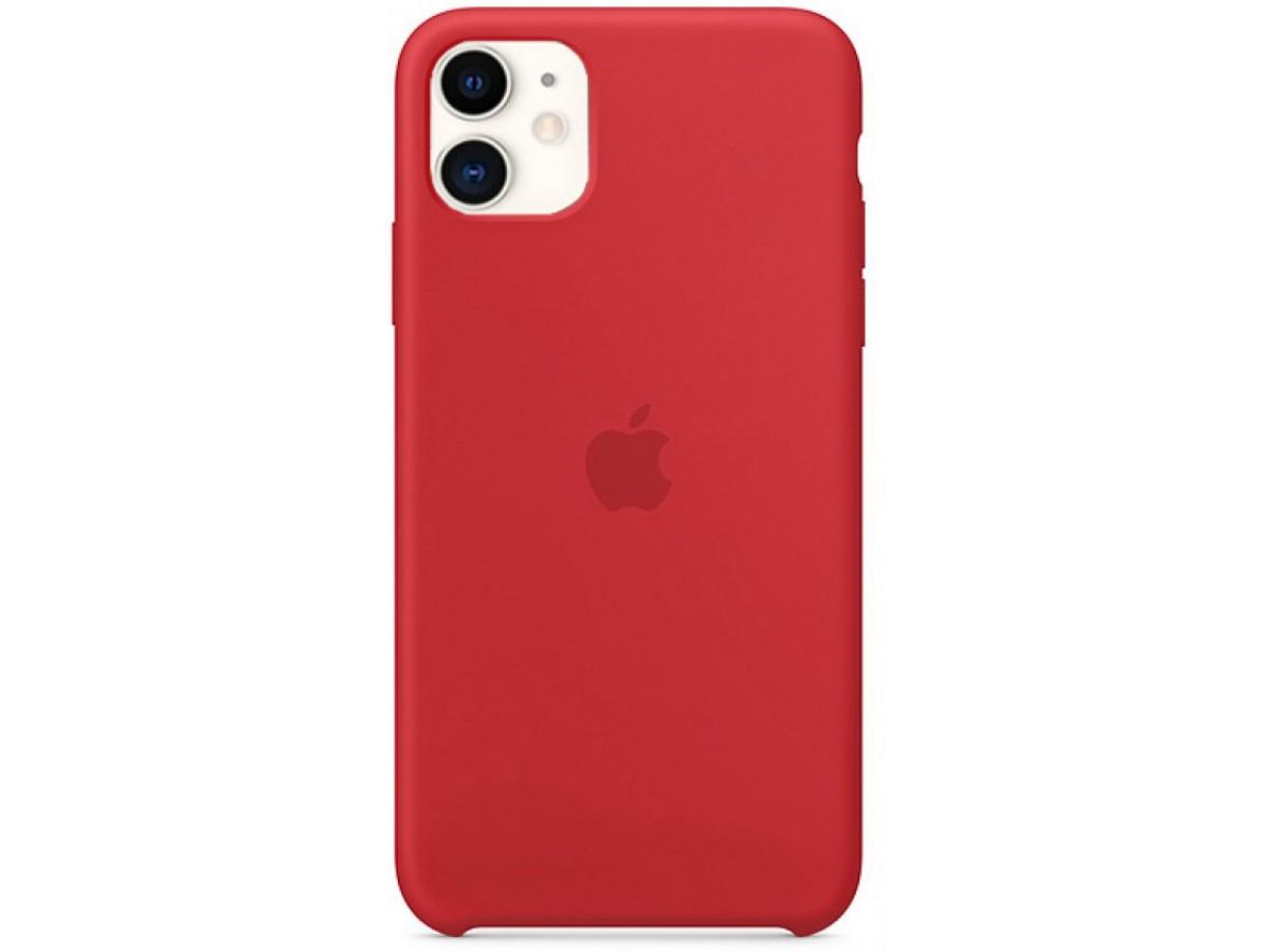 Чехол Silicone Case iPhone 11 красный (c) в Тюмени