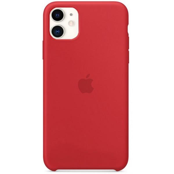 Чехол Silicone Case iPhone 11 красный (c)