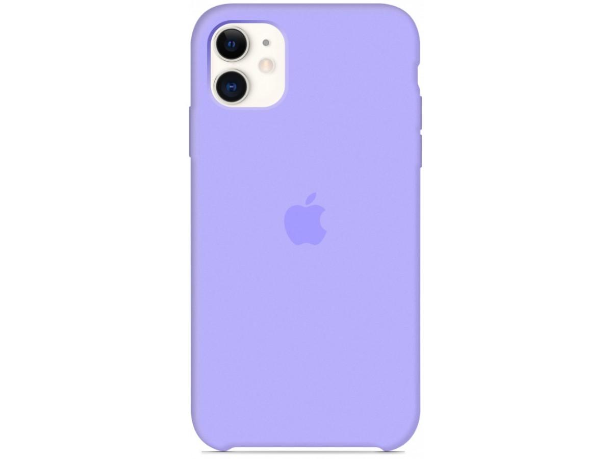 Чехол Silicone Case для iPhone 11 сиреневый в Тюмени