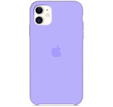 Чехол Silicone Case iPhone 11 сиреневый (c)