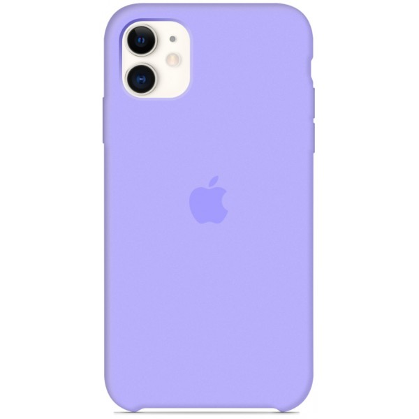 Чехол Silicone Case для iPhone 11 сиреневый
