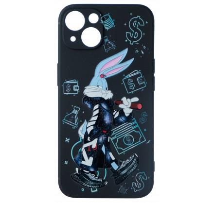 Чехол Fashn Roger Dollar для iPhone 13 с принтом силико...