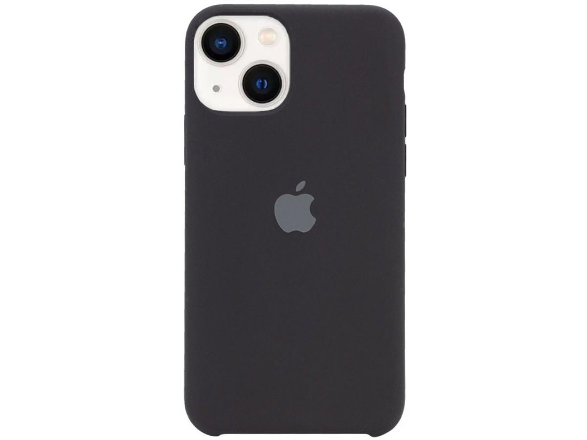 Чехол Silicone Case для iPhone 13 черный в Тюмени
