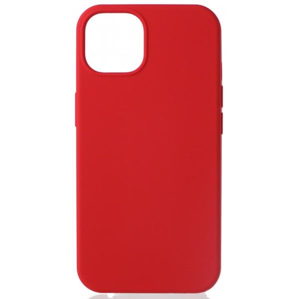 Чехол Silicone Case для iPhone 13 без лого красный