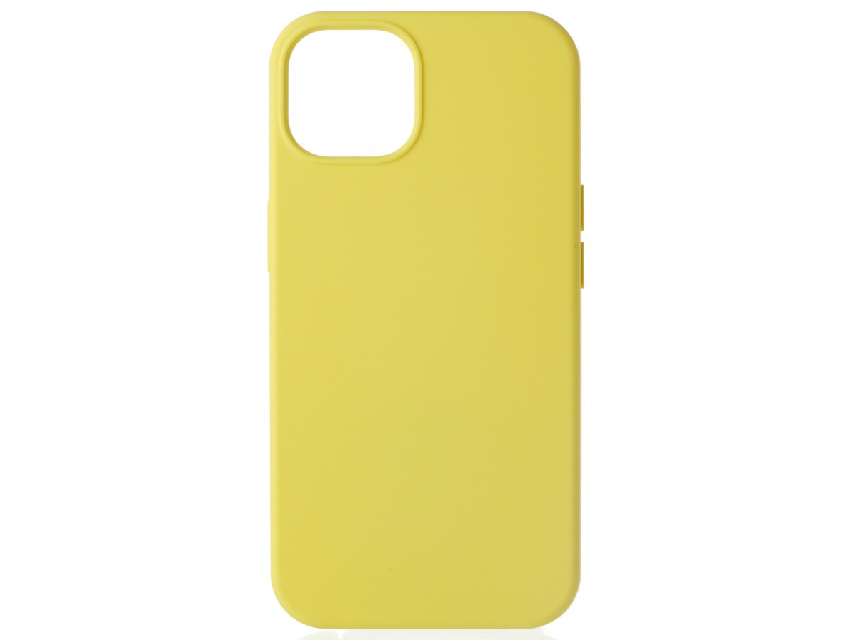 Чехол Silicone Case для iPhone 13 без лого желтый в Тюмени