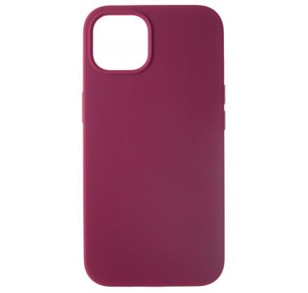 Чехол Silicone Case для iPhone 13 без лого марсала