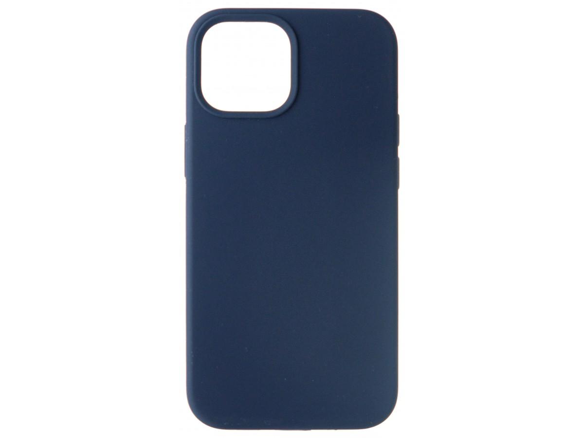 Чехол Silicone Case для iPhone 13 mini без лого темно-синий в Тюмени