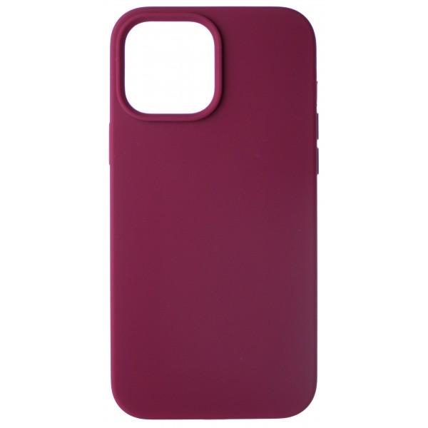 Чехол Silicone Case для iPhone 13 Pro Max без лого марсала