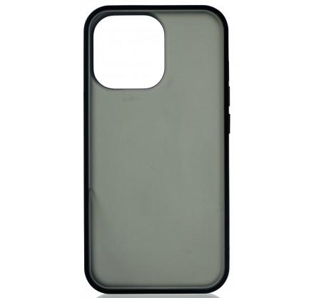 Чехол матовый с бампером для iPhone 13 Pro чёрный