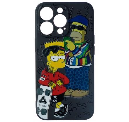Чехол Fashn Homer and Bart для iPhone 13 Pro с принтом ...