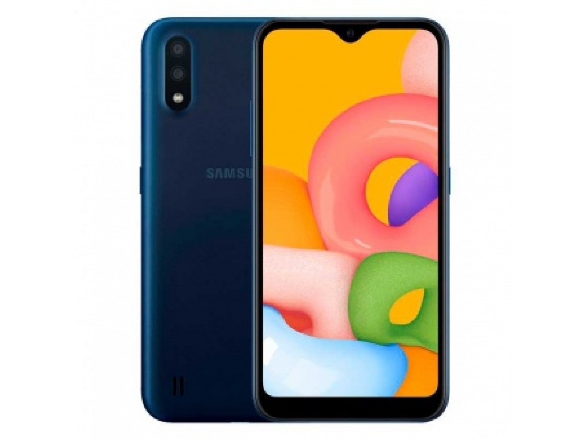 Samsung Galaxy A01 16GB  (синий) в Тюмени