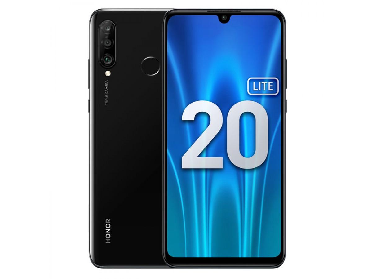 Honor 20 Lite 128GB Полночный черный в Тюмени