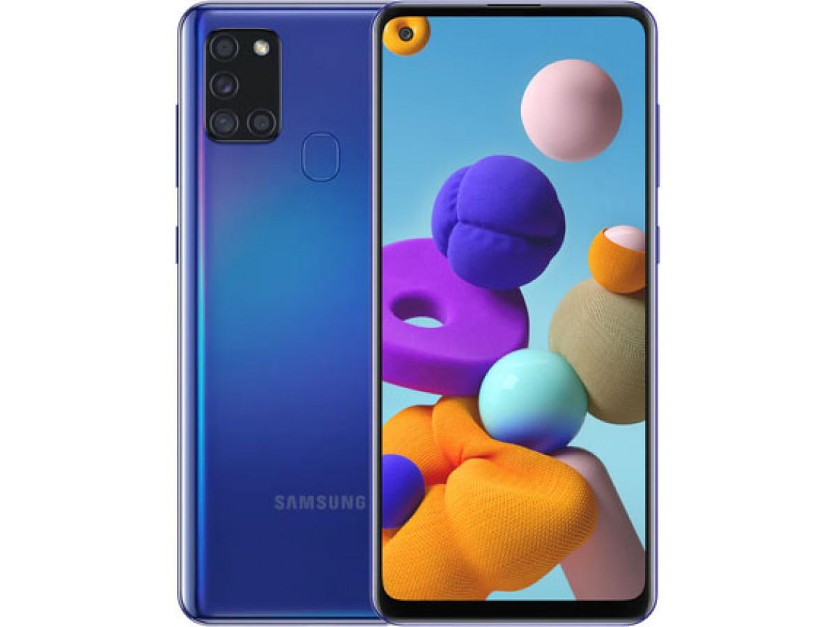 Samsung Galaxy A21s 32 GB (синий) в Тюмени