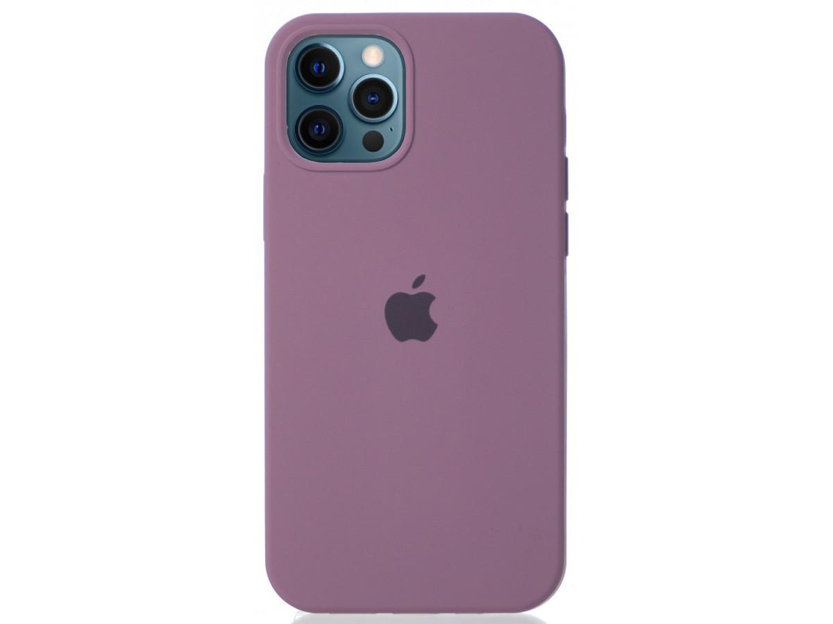 Чехол Silicone Case для iPhone 12/12 Pro черничный в Тюмени