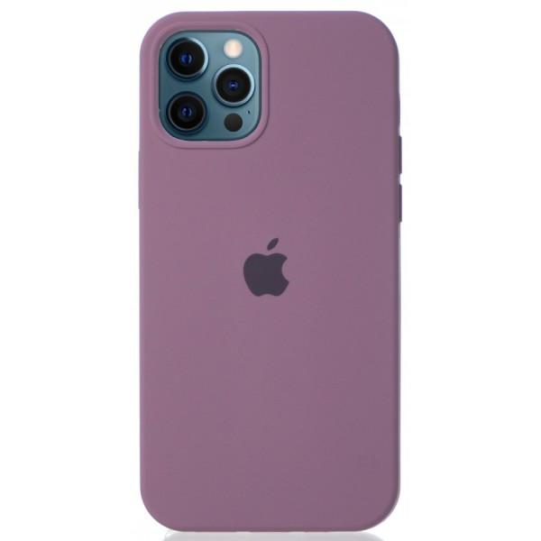 Чехол Silicone Case для iPhone 12/12 Pro черничный
