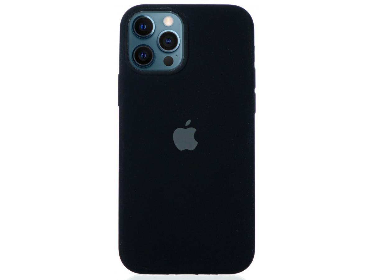 Чехол Silicone Case для iPhone 12/12 Pro черный в Тюмени