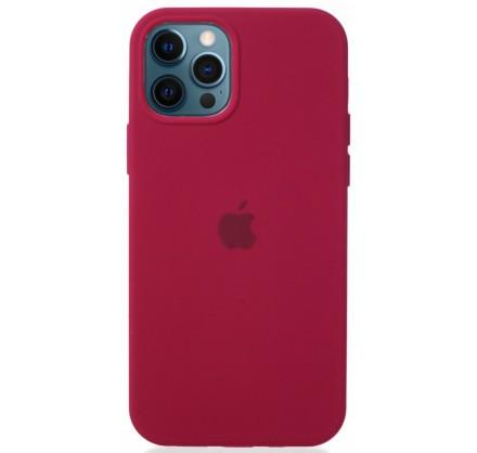 Чехол Silicone Case для iPhone 12/12 Pro малиновый