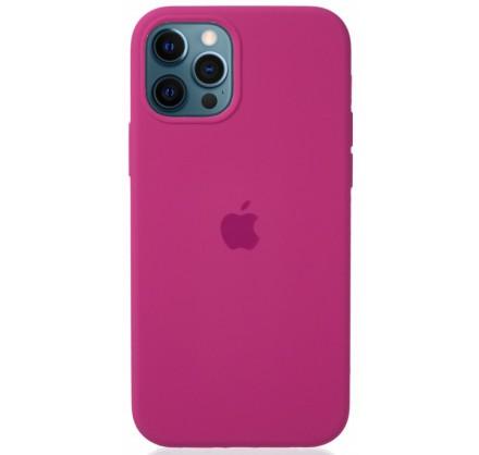 Чехол Silicone Case для iPhone 12/12 Pro темно-розовый