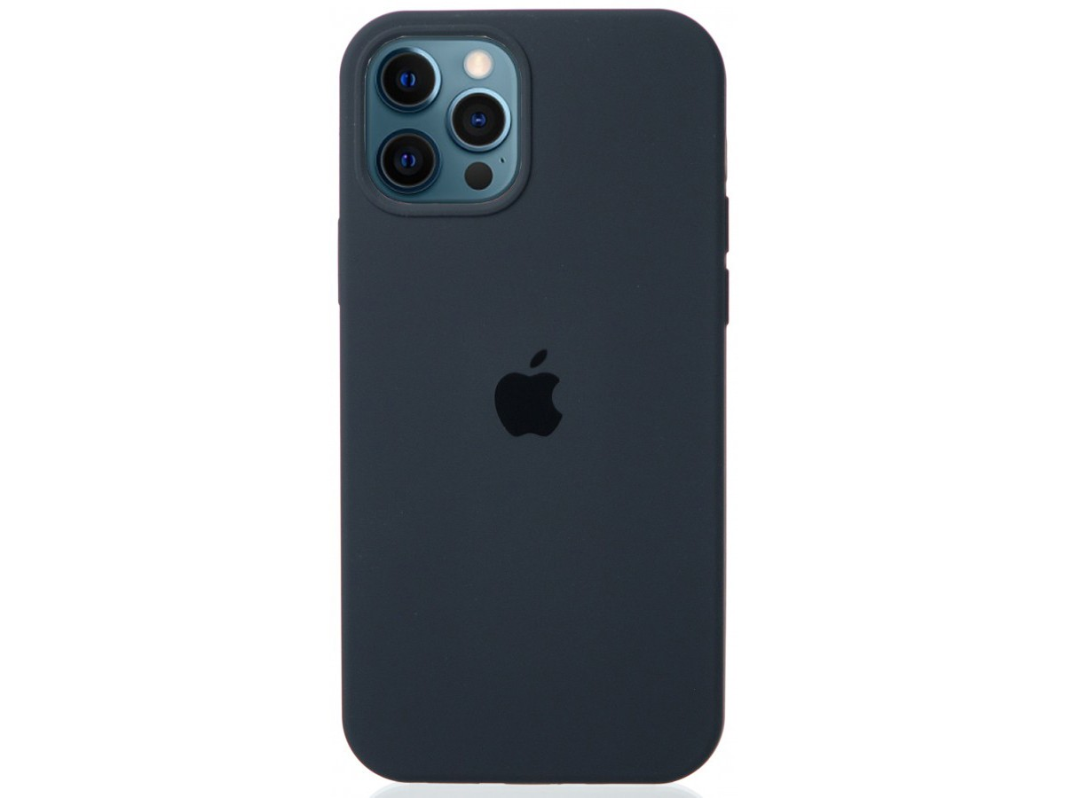Чехол Silicone Case для iPhone 12/12 Pro темно-серый в Тюмени