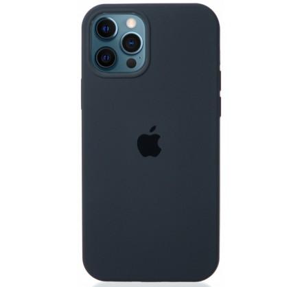 Чехол Silicone Case для iPhone 12/12 Pro темно-серый