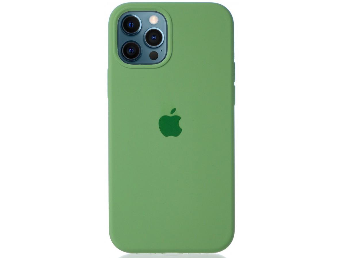 Чехол Silicone Case для iPhone 12/12 Pro зеленый в Тюмени