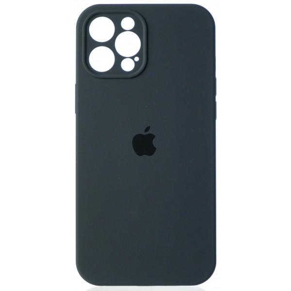 Чехол Silicone Case полная защита для iPhone 12 Pro Max темно-серый