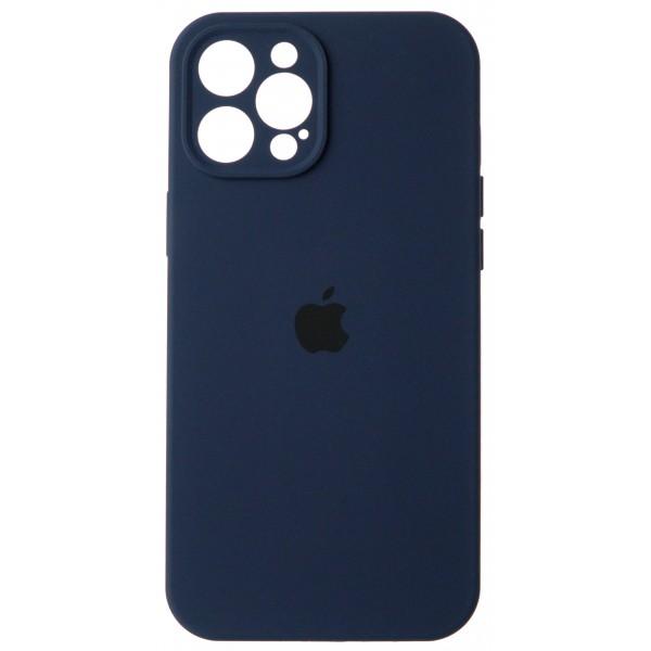 Чехол Silicone Case полная защита для iPhone 12 Pro Max темно-синий