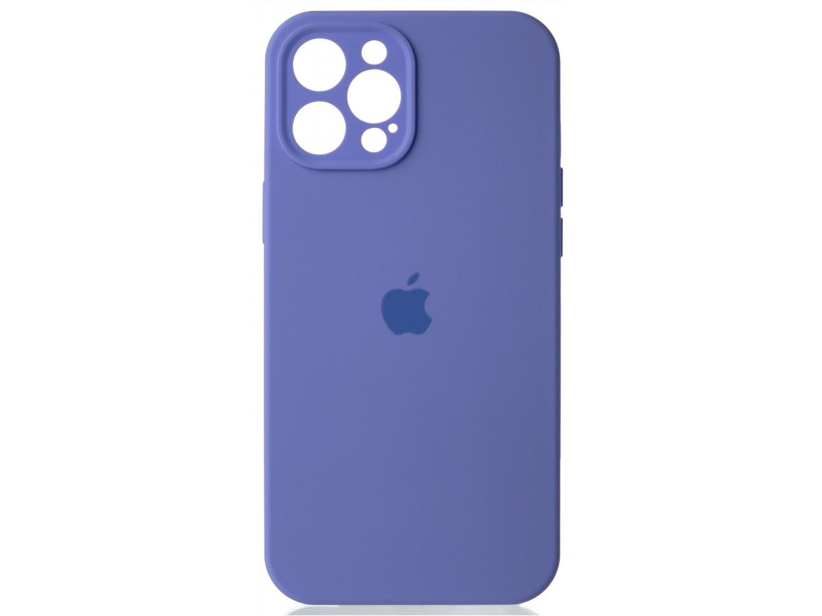 Чехол Silicone Case полная защита для iPhone 12 Pro Max лиловый в Тюмени