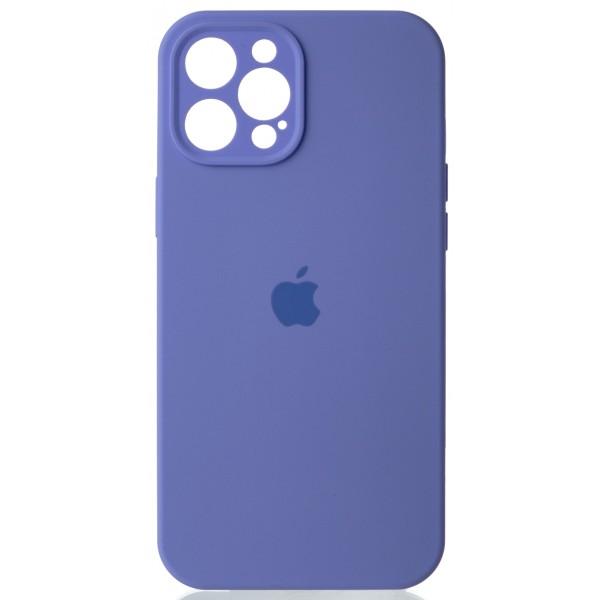 Чехол Silicone Case полная защита для iPhone 12 Pro Max лиловый