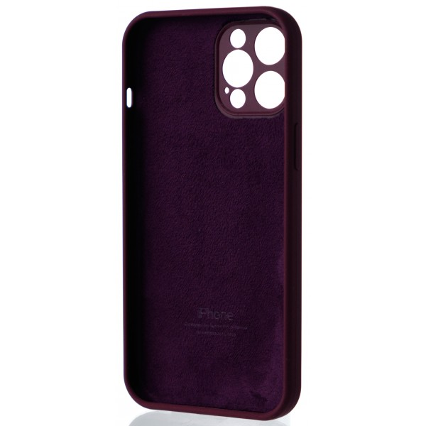 Чехол Silicone Case полная защита для iPhone 12 Pro Max марсала