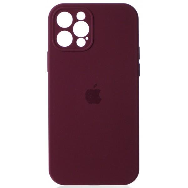 Чехол Silicone Case полная защита для iPhone 12 Pro марсала