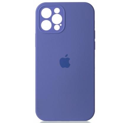Чехол Silicone Case полная защита для iPhone 12 Pro лил...
