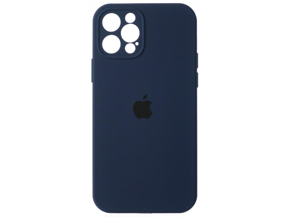 Чехол Silicone Case полная защита для iPhone 12 Pro темно-синий в Тюмени