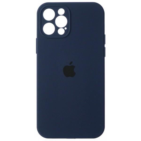 Чехол Silicone Case полная защита для iPhone 12 Pro темно-синий