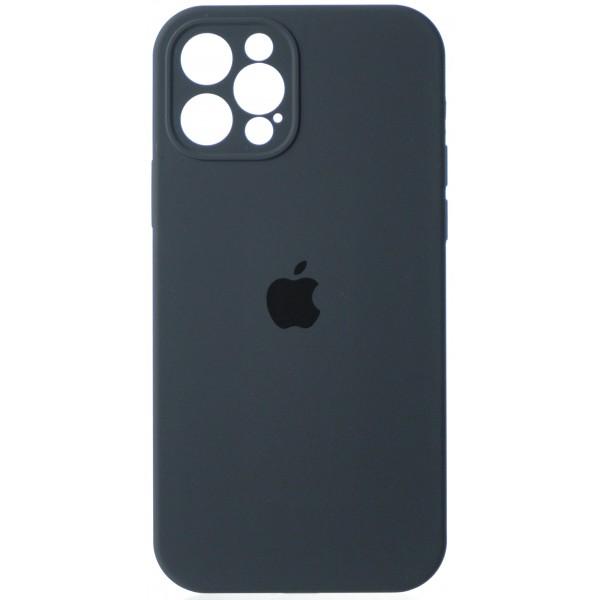 Чехол Silicone Case полная защита для iPhone 12 Pro темно-серый