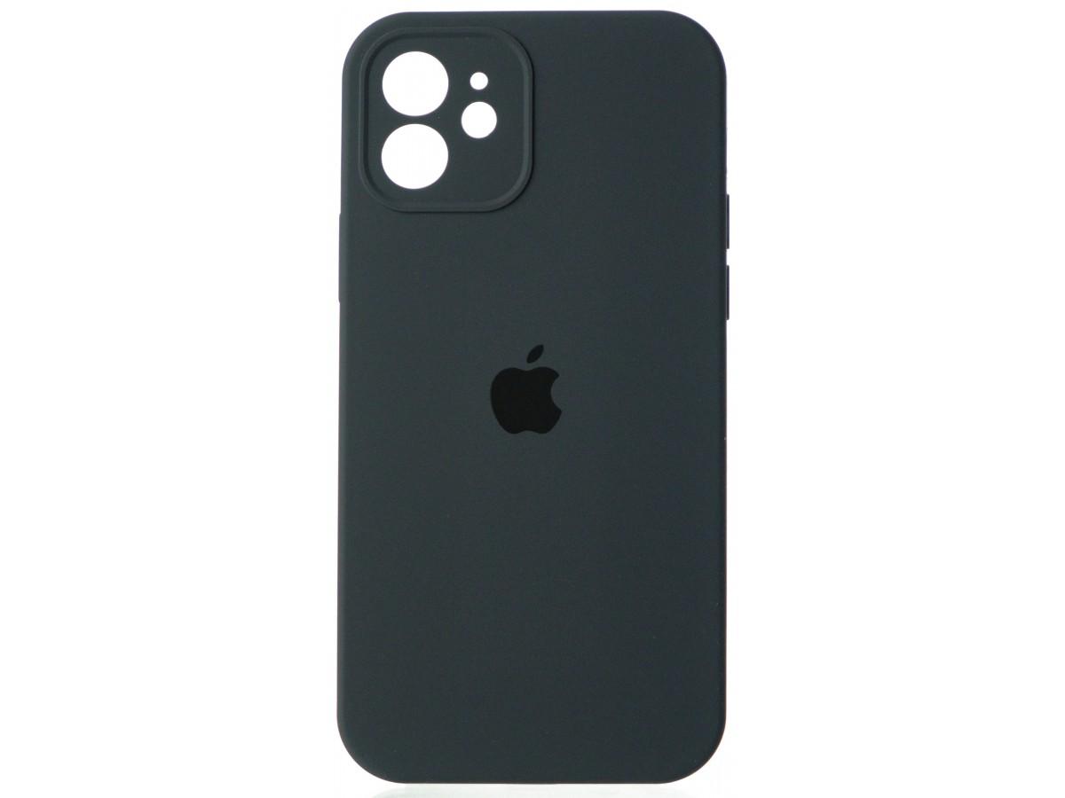 Чехол Silicone Case полная защита для iPhone 12 темно-серый в Тюмени