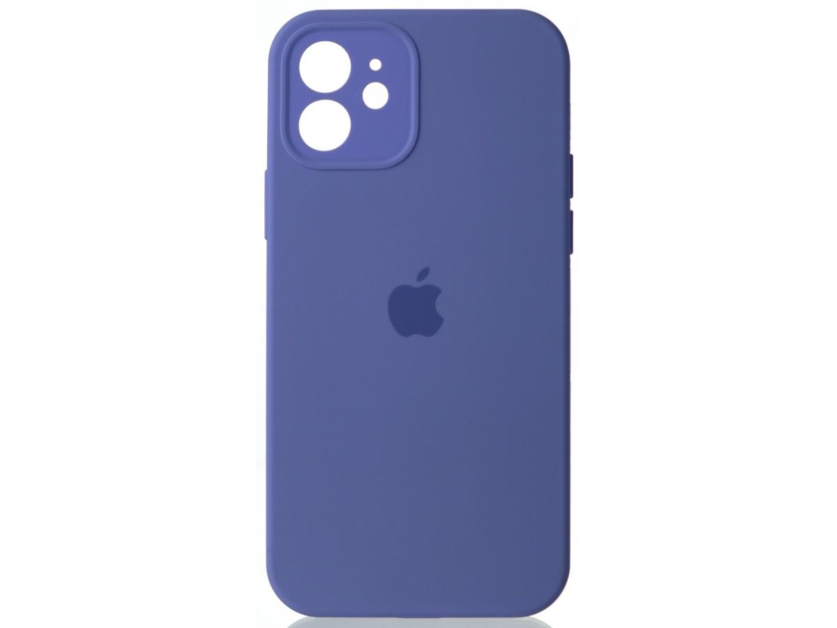 Чехол Silicone Case полная защита для iPhone 12 лиловый в Тюмени
