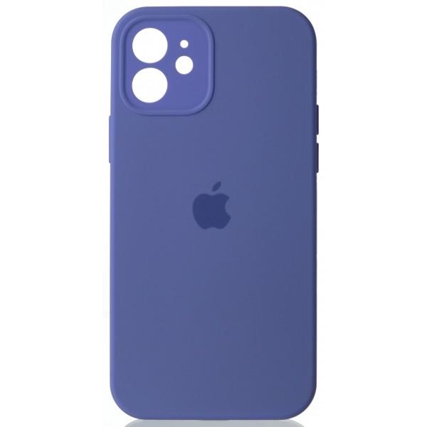 Чехол Silicone Case полная защита для iPhone 12 лиловый