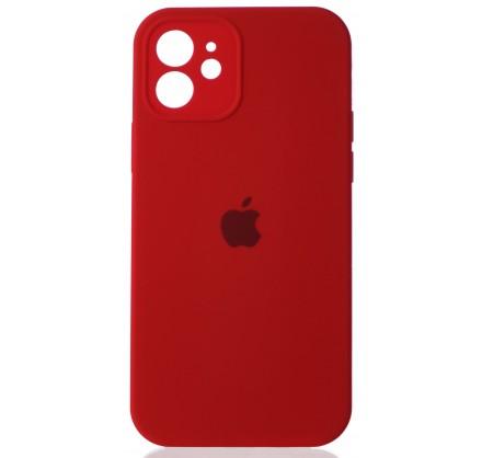 Чехол Silicone Case полная защита для iPhone 12 красный