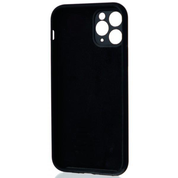 Чехол Silicone Case полная защита для iPhone 11 Pro Max черный
