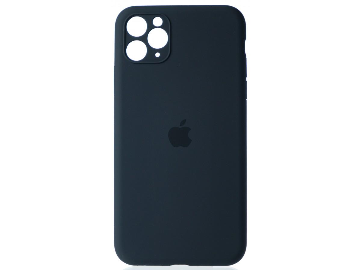 Чехол Silicone Case полная защита для iPhone 11 Pro Max темно-серый в Тюмени