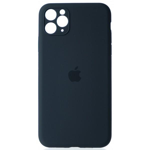 Чехол Silicone Case полная защита для iPhone 11 Pro Max темно-серый